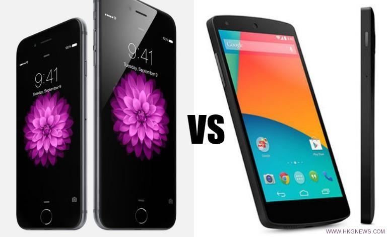 nexus 6 vs iphone 6
