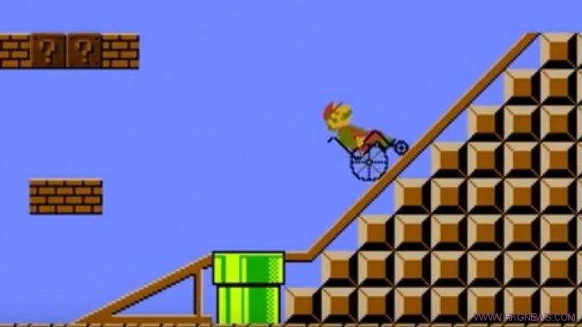 8-Super Mario On Wheelchair