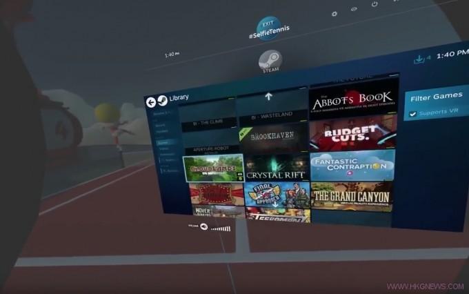 htc Steam VR Browser